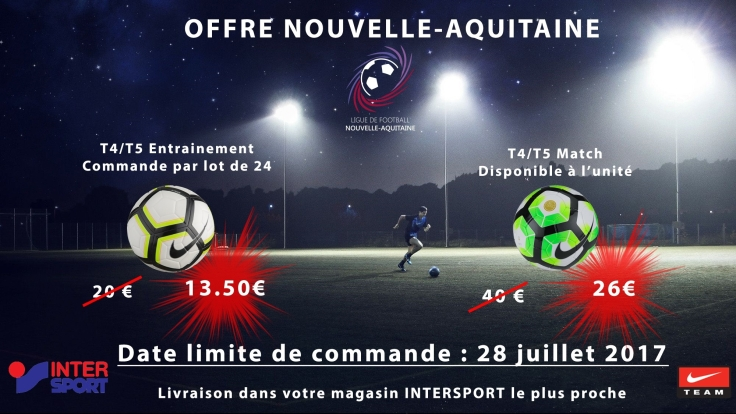 Offre Ballons Nike Intersport LFNA